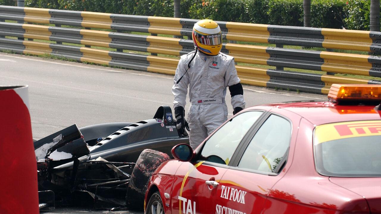 Lewis Hamilton recorded a DNF in the 2003 Macau Grand Prix